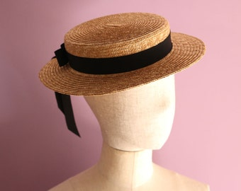 "Straw Boater Hat ""Vivien"""