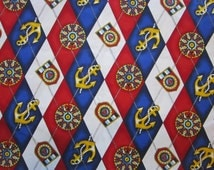 fabric by the yard - nautical WINDJAMMER print - Fabri-Quilt pattern 8150 - 44 inches wide