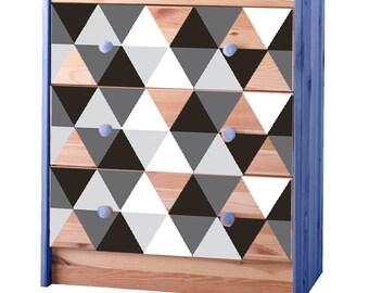 Ikea Rast Drawer Monochromatic drawer decals
