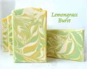 LEMONGRASS BURST Soap with milks silk, and smooth colloidal oats - handmade by Bonny Bubbles