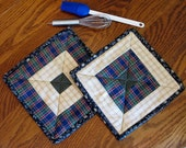 POT HOLDERS, Quilted, Insulated, Hot Pads, Oven Mitt, Trivets, Coasters, Baking, Cooking, Mug Rugs