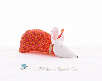 Organic lavender sachet, orange and rose mouse : Adele by L Atelier Au Creux du Bois