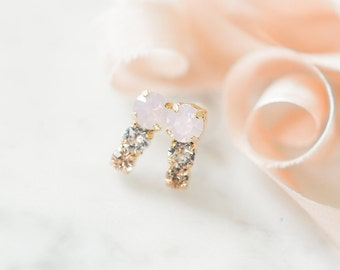 Swarovski Crystal Bridal Earrings- Bridesmaid Earrings- Crystal Stud Earrings- Rhinestone, Bridal Statement Earrings