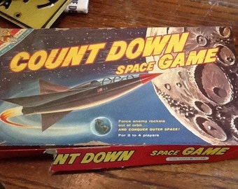 Vintage 1960 Space Game Rocket Atomic Age Mid century Space age