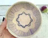 Vintage Pottery Bowl Portuguese Handmade Vtg