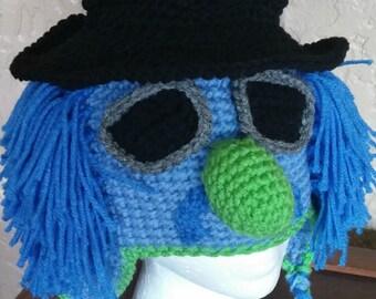 Crochet Muppet Hat Zoot