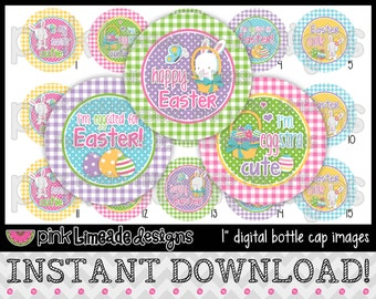 "Eggstra Cute - INSTANT DOWNLOAD 1"" Bottle Cap Images 4x6 - 623"