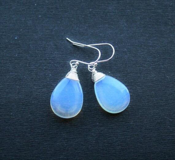 Moonstone Earrings Oplite Moonstone Jewelry Blue by ...