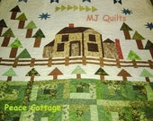 "McCalls Quilting 2014 ""Peace Cottage"" Designed by Lynn Lister  Handcrafted Quilt-Made in USA by MJ Quilts-Free Shipping within USA"