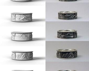 Colorado mountains silver ring