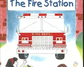 Personalized Childrens  FIRE STATION BOOK  My Trip to the Fire Station  Personalized childrens gifts  ships in 24 Hours