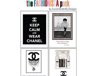 Love to Shop Cards - Fashion Notecard Set - Fashion Quotes Cards - High Fashion Cards - Fashionista Card Set -