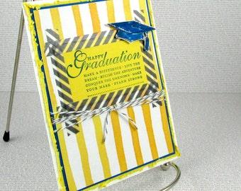 Graduation Card Handmade Congratulations Grad Make a Difference Live Your Dream Make Your Mark Graduate Relish the Adventure