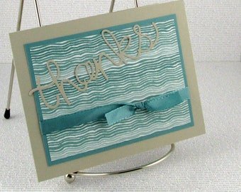 Thank You Card Handmade Card of Thanks Grateful Thanksgiving Appreciation