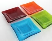 FUSED GLASS DISHES - Bright Basics Dishes, Glass Soap Dish, Large Ring Dish, Gift for Coworker, Under 15, Organizer Dish, Large Trinket Dish