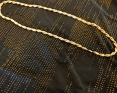 Vintage Twisted goldtone necklace - heavyweight 28 inches long
