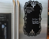 Chalkboard Vinyl Sign - Fancy - Scroll