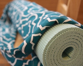 Yoga Mat Bag - Turquoise - Larger Mat