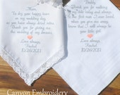 Reserved listing for Melody Wedding Gifts Your Own Sayings Wedding Gifts by Canyon Embroidery