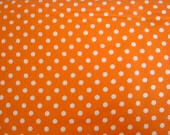 Tangerine Dumb Dot Fabric by Michael Miller - 1 Yard