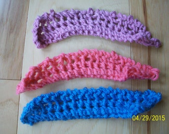 Hand Knit Lace Bookmarks Set of Three