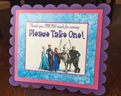 Frozen Birthday Gift Table Sign