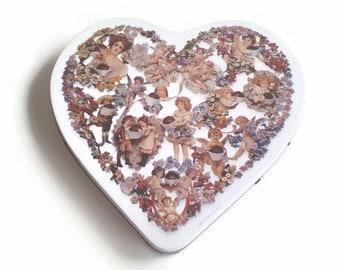 Vintage Heart Tin, Vintage Victorian Images Tin, Vintage Fannie May Tin, Vintage Candy Tin, Cherub Tin