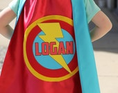 PERSONALIZED Kids SUPERHERO CAPE - Customized Full Name Cape -  fast delivery