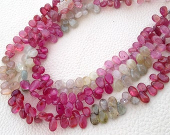 Brand New, Amazing Item Natural MULTI SAPPHIRE Smooth Pear Shape Briolettes,7-8mm, 1/2 Strand,Superb Item