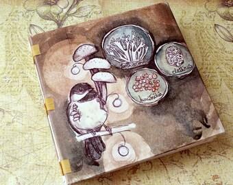 Handmade Art Journal Watercolour Sketchbook - fungus