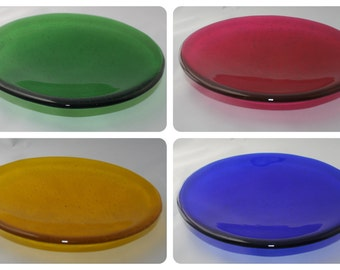 Bright Transparent Medium Glass Bowl - Single Colour