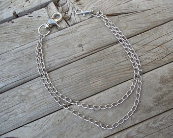 Double wallet chain, chrome plated