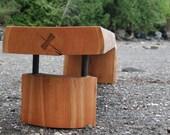 Black Cherry Waterfall Bench/Coffee Table