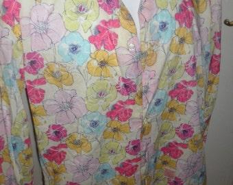 alessandro gherardeschi floral broght  button up shirt