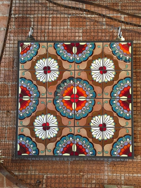 Items similar to 24 x24 mandala mural on etsy for Mural mandala