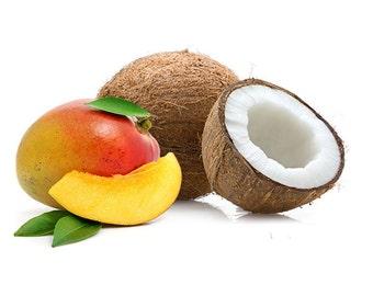 SHOWER GEL ~ Mango Coconut Shower Gel Body Wash Bubble Bath 8 oz ~ Tropical Shower Gel