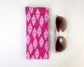 Foulard Ikat in Fuchsia Raspberry Metal Flex Frame Sunglasses or Glasses Case