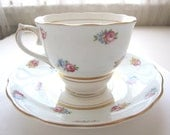 Colclough Teacup and Saucer / Bone China Tea Cup / Cup and Saucer / Mix and Match China / Tea Parties /Bridal Shower from AllieEtCie