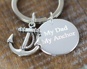 Gifts for Dad,  Personalized Key Chain Gift Engraved Gifts for Dads