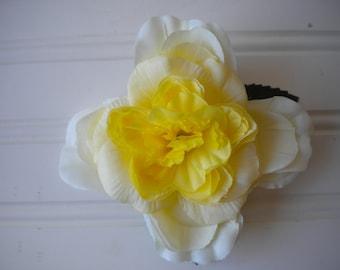 Light Yellow Rose Hair Clip