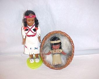 Native American Made Souvenir Dolls