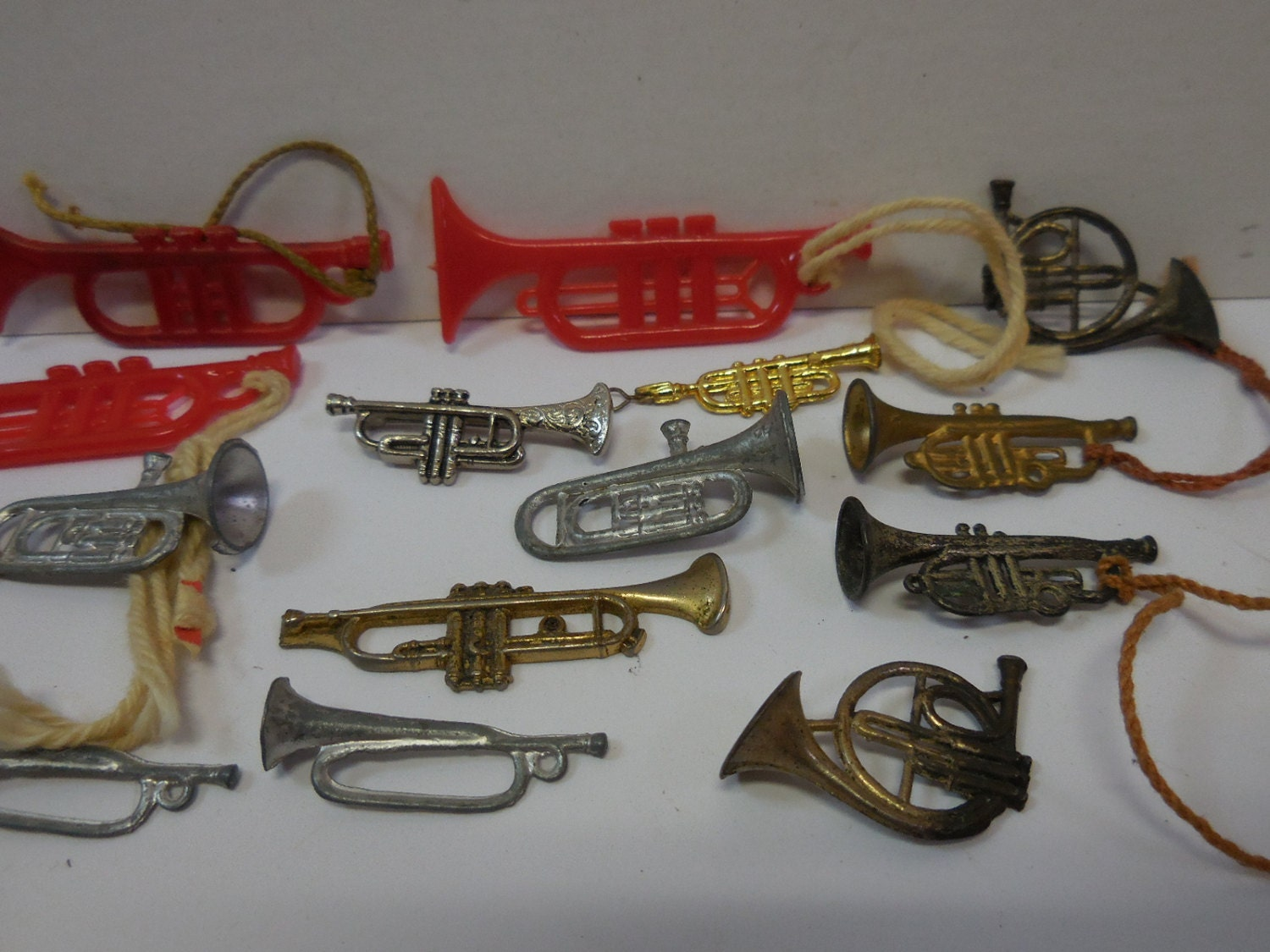 Toy Musical Horns : Vintage toy horns musical instruments french by