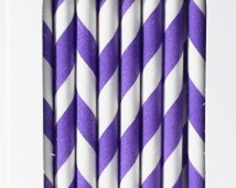 Paper Straws Purple Box of 144