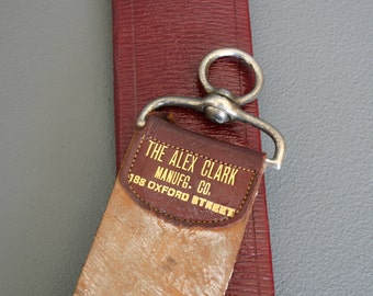 Antique Barber's Razor Strop from England - Razor Sharpener - Leather Strop - Gents Razor Strop - Barber Shop
