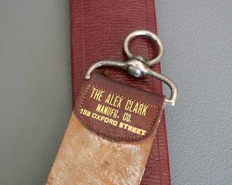 Antique Barber's Razor Strop from England - Razor Sharpener - Leather Strop - Gents Razor Strop - Barber Shop