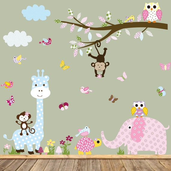 Nursery Wall Decal, Baby Wall Decal, Children's Wall Decal,Elephant Wall Decal, Wall Decals, Kids Wall Decals