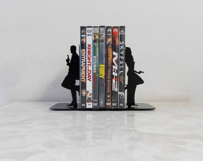 Special Agent / 007 / James Bond / Spy / Mission Impossible / Double Agent / Undercover / Secret Agent / Mr & Mrs Smith /Metal Art Bookends