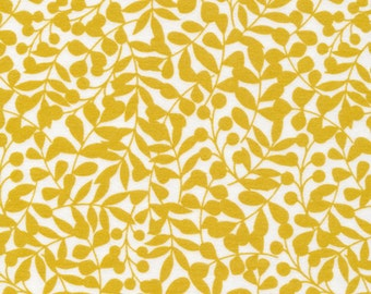 Organic Cotton FLANNEL Fabric - Cloud9 First Light - Citron Branch Flannel