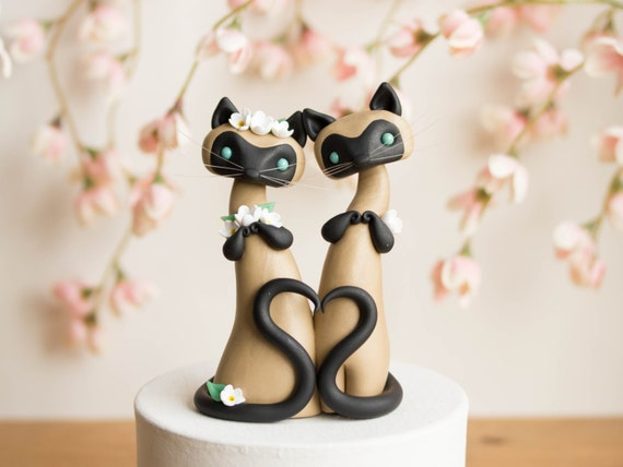 cat wedding cake toppers uk siamese cat wedding cake topper by bonjour poupette 12462