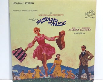 Sound of Music Julie Andrews Album Cover Purse Custom Made Vintage Record Purse LP Album Handbag Tote